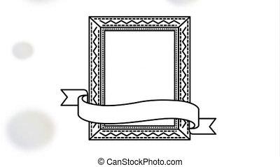 elegant square frame with ribbon video animation - elegant...