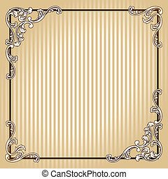 Elegant square vintage sepia frame