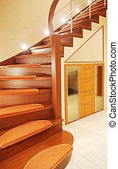 stair case - elegant stair case in luxury house vertical...