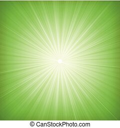 elegant, starburst, grüner hintergrund