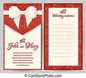 Elegant stylish red greeting card