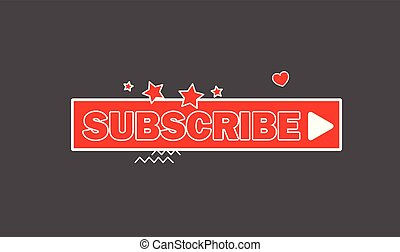 Elegant Subscribe Button Vector