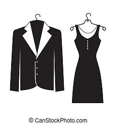 elegant suits over white background vector illustration