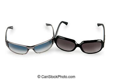 Elegant sunglasses isolated on white