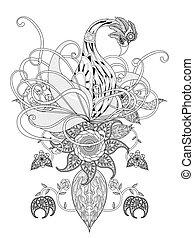 swan adult coloring page - elegant swan adult coloring page...