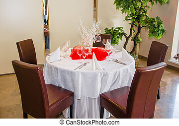 elegant table set for a dinner