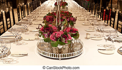 Elegant table setting. Elegant candlelight dinner ... & Elegant table setting. Elegant candlelight dinner table setting at ...