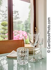Elegant tableware on table