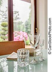 Elegant tableware on table