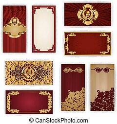 Elegant template for vip luxury invitation