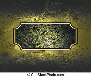 Elegant texture with dark nameplate. Design element