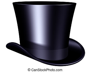 Elegant top hat - Isolated illustration of an elegant top...
