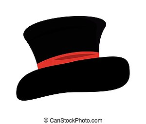elegant tophat accessory isolated icon vector illustration...