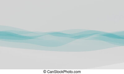 Elegant transparent cyan fabric or film motion background 4K...