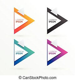 elegant triangle banners set with text space