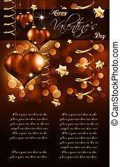 Elegant  Valentine's Day Flayer for important invitation
