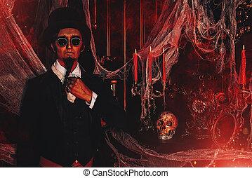 elegant vampire man