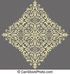 Elegant Vector Golden Ornament in Classic Style