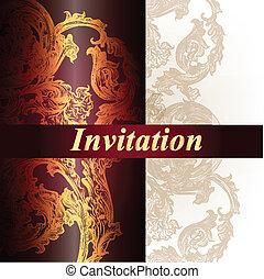 Elegant vector invitation card
