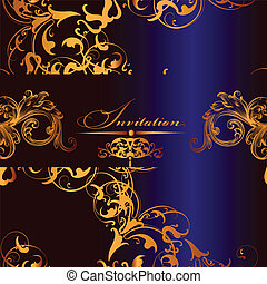 Elegant vector  invitation card