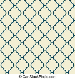 Elegant vector seamless pattern (tiling). Retro blue and...