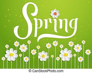 Elegant vector spring invitation card.