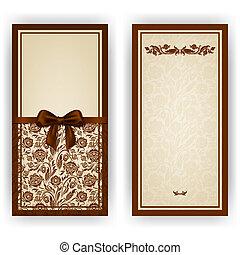Elegant vector template for invitation, card