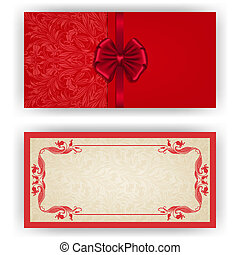 Elegant vector template for luxury invitation, card - ...