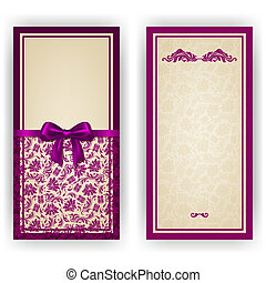 Elegant vector template for luxury invitation, card -...