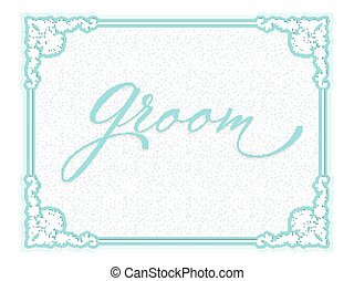 Elegant vector wedding invitation card.