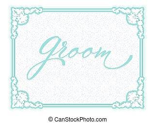 Elegant vector wedding invitation card.