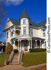 Elegant Victorian - Gorgeous Victorian home has round turret...
