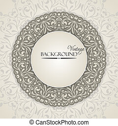 Elegant vintage background with lace ornament