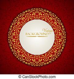 Elegant vintage background with lace ornament