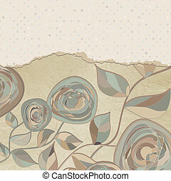 Elegant vintage card with copy space. EPS 8