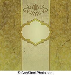Elegant vintage card  with panel