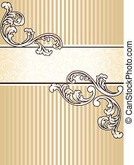 Elegant vintage sepia banner, vertical