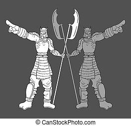 elegant warriors - Creative design of elegant warrior