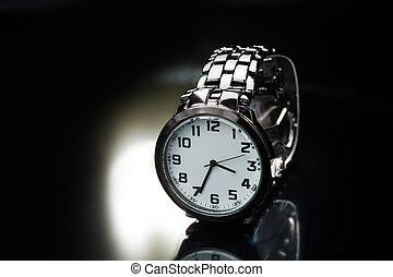 elegant watch with a metal bracelet