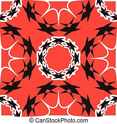 elegant wavy red and black pattern