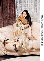Elegant wealthy woman