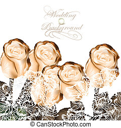 Elegant wedding background with bei