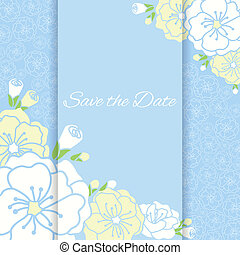 Elegant wedding card with flower.