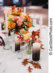 Elegant Wedding decorations with flowers