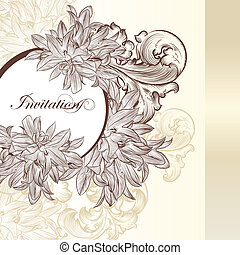 Elegant wedding invitation card for - Vector hand drawn...