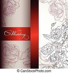 Elegant wedding invitation card for