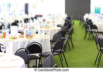 Elegant wedding reception area