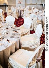 Elegant wedding seating
