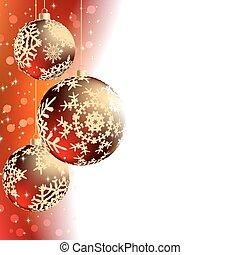 elegant, weihnachten, fröhlich, card.