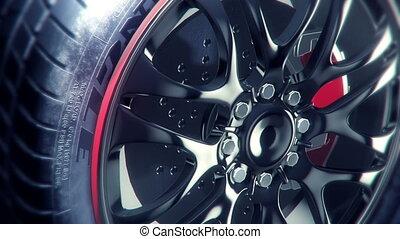 Elegant Wheel spining closup loop
